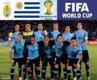 Sélection de l'Uruguay, Groupe D, Brésil 2014