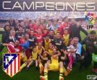 Atlético de Madrid, champion de la Ligue de football espagnole 2013-2014