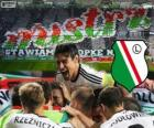 Legia Varsovie, champion de la ligue polonaise de football Ekstraklasa 2013-2014