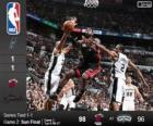 NBA finales de 2014, 2e partie, Miami Heat 98 - San Antonio Spurs 96
