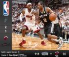 NBA finales de 2014, 3ème partie, San Antonio Spurs 111 - Miami Heat 92