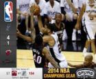 NBA finales de 2014, 5e partie, Miami Heat 87 - San Antonio Spurs 104
