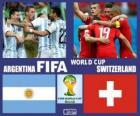 Argentine - Suisse, huitième de finale, Brésil 2014