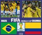 Brésil - Colombie, quarts de finale, Brésil 2014