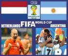 Pays-Bas - Argentine, demi-finales, Brésil 2014