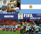 Argentine célèbre sa classification, Brésil 2014