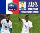 Paul Pogba, trophée du Jeune Joueur. Coupe du monde Brésil 2014