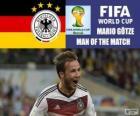Mario Götze, meilleur joueur de la finale. Coupe du monde de Football Brésil 2014