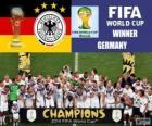 Allemagne, le champion du monde. Coupe du monde de Football Brésil 2014