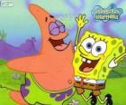 Bob l'Eponge et Patrick très heureux