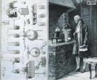 Antoine Lavoisier (1743-1794), chimiste français, considéré comme le créateur de la chimie moderne