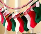 Chaussettes de Noël en différentes couleurs