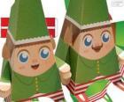 Lutins de Noël de papier