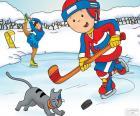 Caillou et Gilbert, hockey