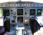 Une cabine de l'avion