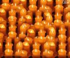 Bougies de Noël allumé