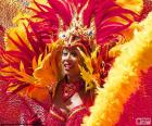 Robe de Carnaval orange