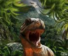 Tyrannosaurus Rex avec votre bouche ouverte