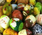 Assortiment des oeufs de Pâques