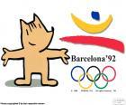 Logo et mascotte des Jeux olympiques de Barcelone 1992, Cobi, assisté par 9364 athlètes de 169 pays