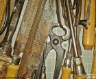 Divers outils à main charpentier