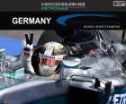 Lewis Hamilton fête sa sixième victoire de la saison au Grand Prix d'Allemagne 2016