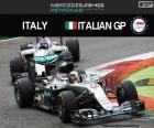 Lewis Hamilton, troisième dans le grand prix d'Italie 2016 avec sa Mercedes