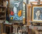 Atelier de l'artiste peintre