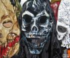 Trois masques Halloween