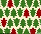 Fonds arbres de Noël
