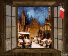 Marché de Noël, fenêtre