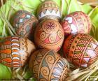 Beaux oeufs de Pâques