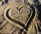 Coeur à la plage