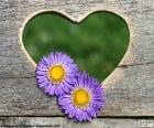 Coeur et deux fleurs