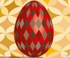 Oeuf de Pâques avec losanges
