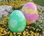 Gros oeufs de Pâques