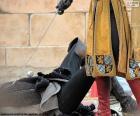 Duel entre chevaliers médiévaux