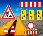 Signalisation de travaux routiers