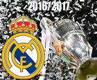 Le Real Madrid est le champion de la Champions League 2016-2017 en battant la Juventus. Leur douzième coupe d'Europe