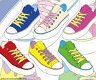 Chaussures de sport de couleurs