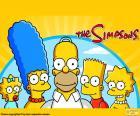 Puzzle Toute la famille Simpson