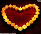 Coeur de bougies