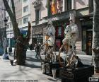 Statues humaines, Barcelone