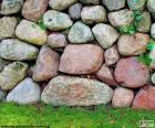 Mur de jardin pierre
