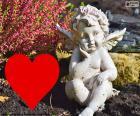 Cupidon coeur i rouge