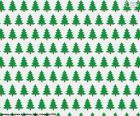 Papier des arbres de Noël pour emballer les cadeaux