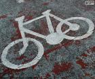 Bicyclette peinte, signal