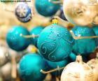 Boules de Noël élégants