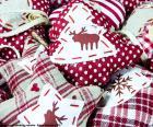 Ornements de Noël, tissu