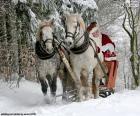 Traîneau de papa Noel